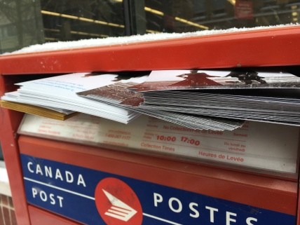 There they go. Thank you Canada Post.